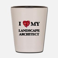I love my Landscape Architect hearts de Shot Glass
