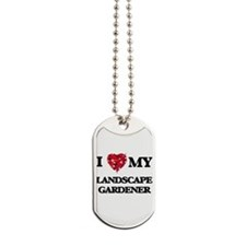 I love my Landscape Gardener hearts desig Dog Tags