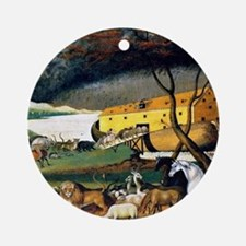 Noah's Ark, painting by Edward Hick Round Ornament