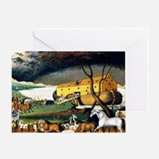Noah's Ark, painting by Edward Hicks Greeting Card