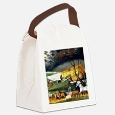 Noah's Ark, painting by Edward Hi Canvas Lunch Bag