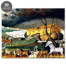 Noah's Ark, painting by Edward Hicks Puzzle