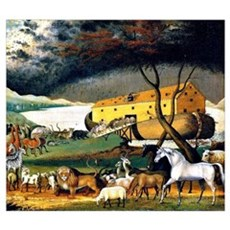 Noah's Ark, painting by Edward Hicks Poster