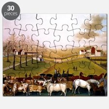 Edward Hicks painting, An Indian Summer Vie Puzzle