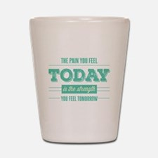 Pain Today Strength Tomorrow Shot Glass
