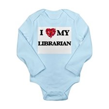 I love my Librarian hearts design Body Suit