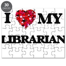 I love my Librarian hearts design Puzzle