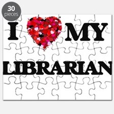 I love my Librarian hearts design Puzzle