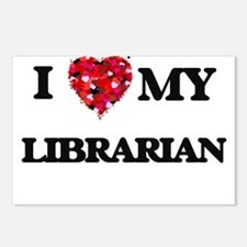 I love my Librarian heart Postcards (Package of 8)