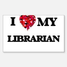 I love my Librarian hearts design Decal