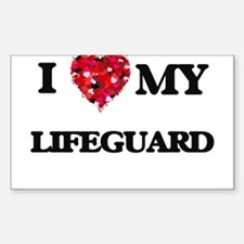 I love my Lifeguard hearts design Decal