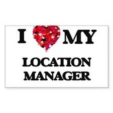 I love my Location Manager hearts design Decal