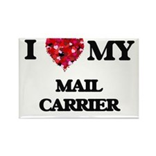 I love my Mail Carrier hearts design Magnets