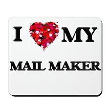 I love my Mail Maker hearts design Mousepad
