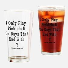 Funny Pickleball Drinking Glass