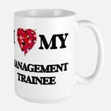 I love my Management Trainee hearts design Mugs