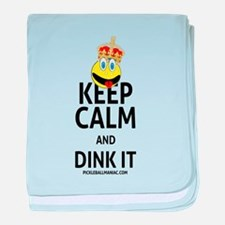 Keep Calm and Dink It baby blanket