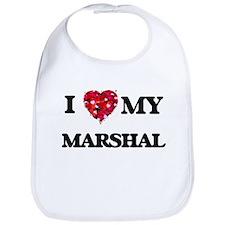 I love my Marshal hearts design Bib