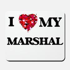 I love my Marshal hearts design Mousepad