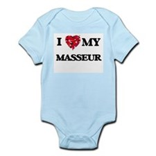 I love my Masseur hearts design Body Suit