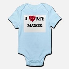 I love my Mayor hearts design Body Suit