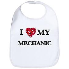 I love my Mechanic hearts design Bib