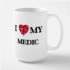 I love my Medic hearts design Mugs