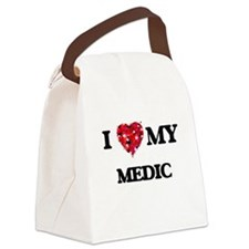 I love my Medic hearts design Canvas Lunch Bag