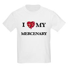 I love my Mercenary hearts design T-Shirt