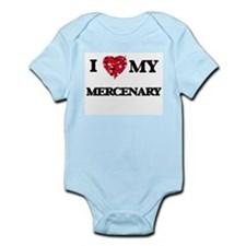 I love my Mercenary hearts design Body Suit