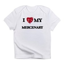 I love my Mercenary hearts design Infant T-Shirt