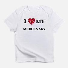 I love my Mercenary hearts design Infant T-Shirt