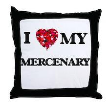 I love my Mercenary hearts design Throw Pillow