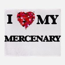 I love my Mercenary hearts design Throw Blanket