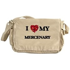 I love my Mercenary hearts design Messenger Bag