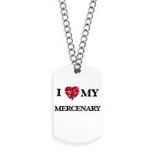 I love my Mercenary hearts design Dog Tags