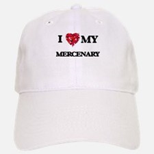 I love my Mercenary hearts design Baseball Baseball Cap