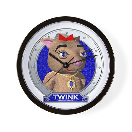Twink's Blue Portrait Clock