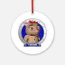 Twink's Blue Portrait Ornament (Round)