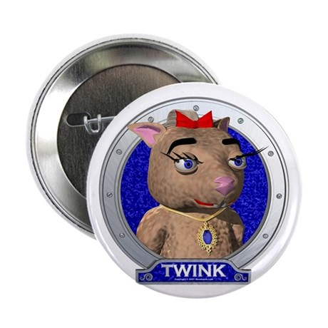 "Twink's Blue Portrait 2.25"" Button (100 pack)"