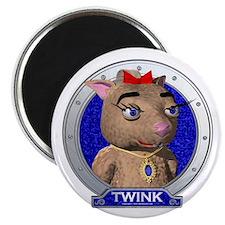 Twink's Blue Portrait Magnet