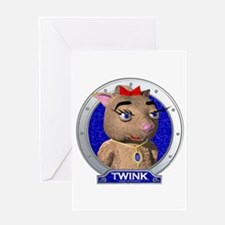 Twink's Blue Portrait Greeting Card
