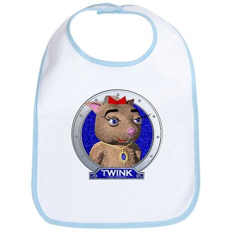 Twink's Blue Portrait Bib