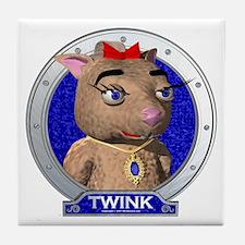 Twink's Blue Portrait Tile Coaster