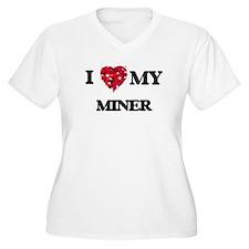 I love my Miner hearts design Plus Size T-Shirt