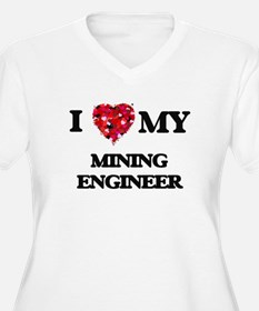 I love my Mining Engineer hearts Plus Size T-Shirt