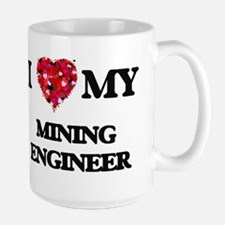 I love my Mining Engineer hearts design Mugs