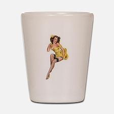 Yellow Lady Shot Glass