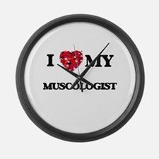I love my Muscologist hearts desi Large Wall Clock