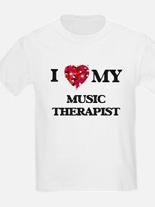 I love my Music Therapist hearts design T-Shirt